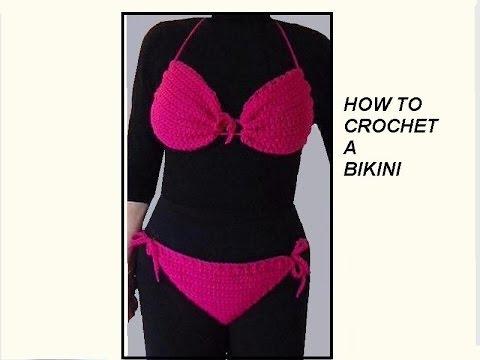 Crochet Pattern Pink Bikini Swim Suit Bathing Suit Swimwear