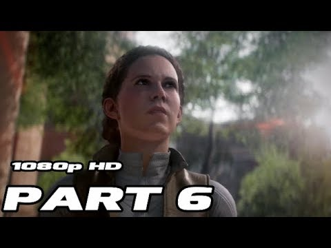 STAR WARS BATTLEFRONT 2 EA Walkthrough Gameplay Part 6 - Leia - Campaign Mission 6 - No Commentary 6