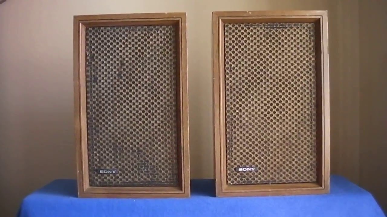 Sony Bookshelf Speakers Vintage