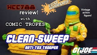 HCC788 - 1991 CLEAN-SWEEP - with COMIC TROPES! Eco Warriors - Vintage G.I. Joe toy!