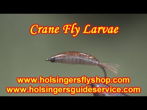 How To Tie A Crane Fly Larvae, Holsinger's Fly Shop - YouTube