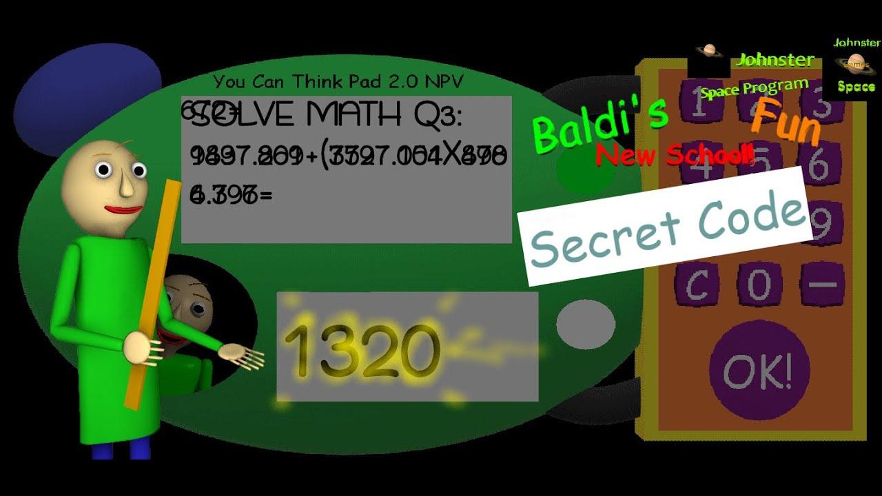 A Secret Code Baldi S Fun New School Youtube