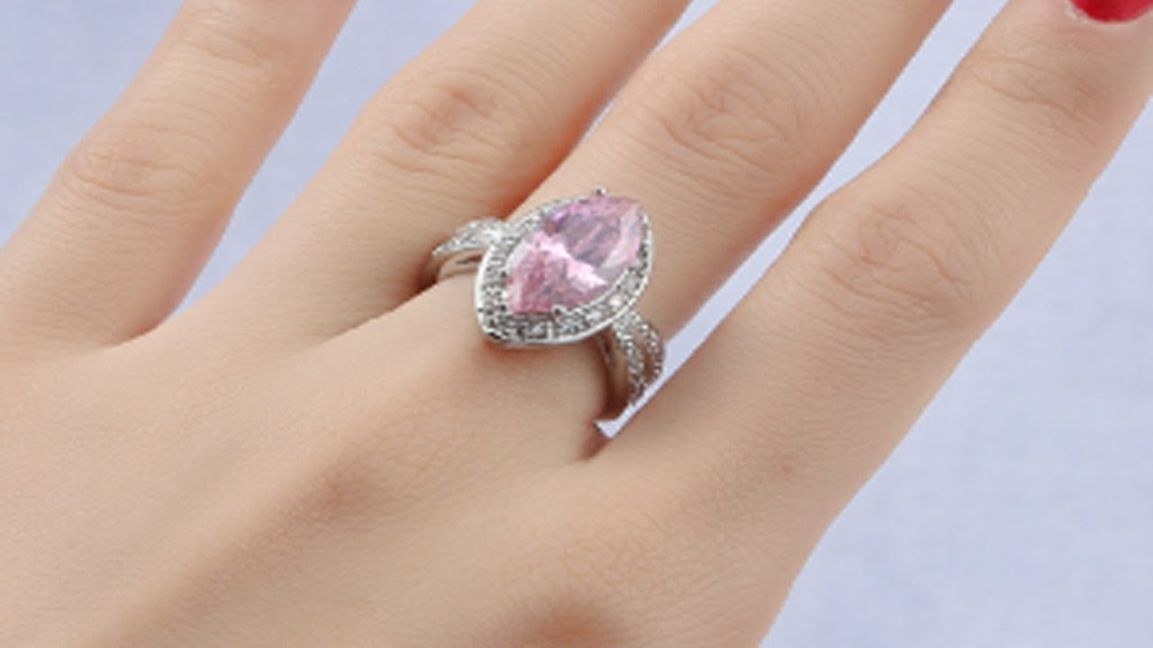 plated water big ring product beautiful silver blue zircon women sapphire accessories rings wedding fashion jewelry stone