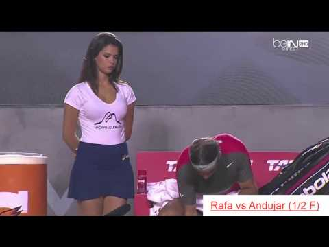 BEAUTIFUL WOMEN WITH RAFAEL NADAL IN RIO OPEN 2014