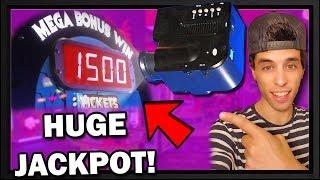 I WON a LED Projector at the Arcade! Huge Jackpot!