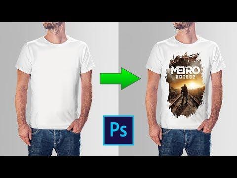 Как добавить изображение на футболку в фотошопе