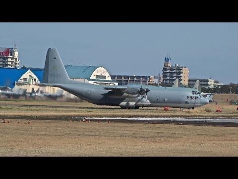 厚木基地の空-117 '14/4/5 (C-130T−30 #598 VFA-27)