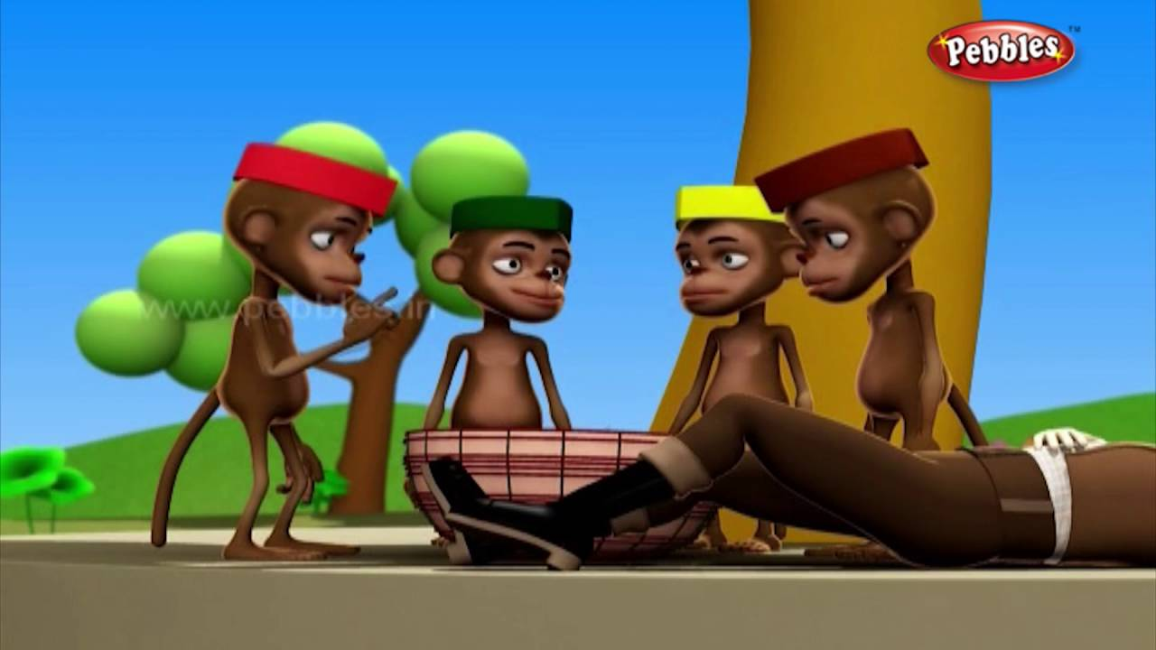 Clever Cap Seller | मराठी कथा | 3D Grandma Stories in Marathi | 3D Moral  Stories in Marathi