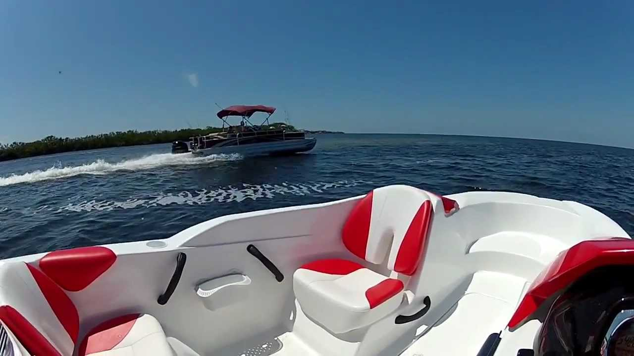 Seadoo Jet Boat >> Seadoo Speedster 150 255HP chasing a Bennington with 250hp Yamaha 4 stroke - YouTube