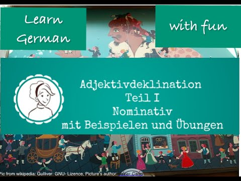 learn German A1: Adjective declination PART 1