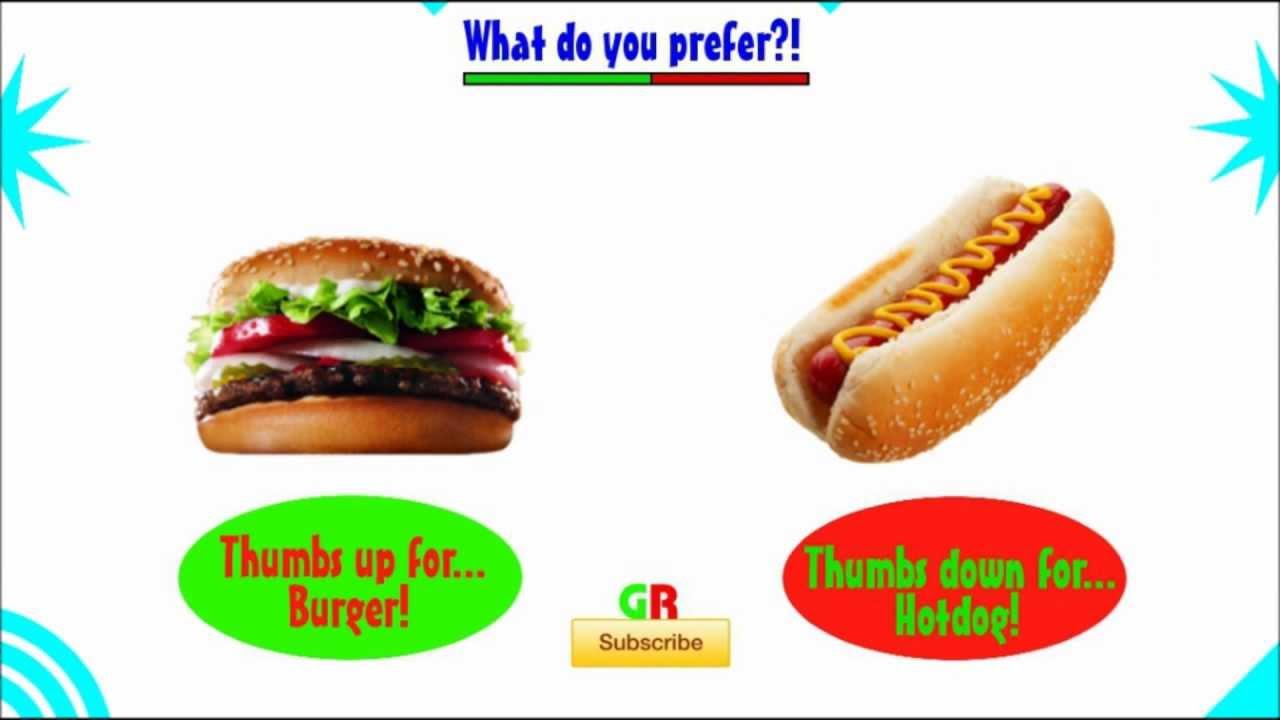 Hot Dogs And Hamburger Pics