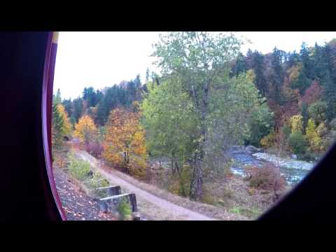 Mt. Hood Railroad to Parkdale Vestible View (Full Ride)