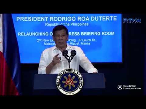[WATCH] Philippine President, Rodrigo Roa Duterte lashing out at European Union