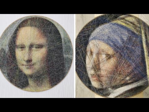 These Mind-Blowing Recreations of Famous Artworks Are Made With Only Thread—and an Algorithm That Runs Over 2 Billion Calculations