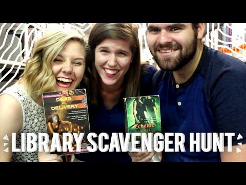 LIBRARY SCAVENGER HUNT | ft. emily & matthew
