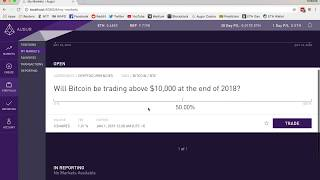 Augur Tutorial: Buying and Selling Shares