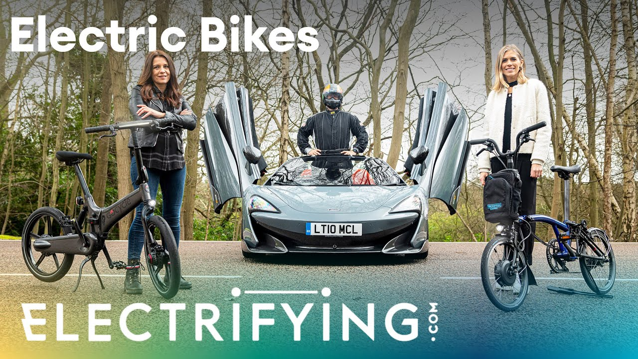 Brompton or Gocycle? An Electrifying in-depth electric bike review, featuring a McLaren 600LT