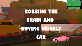 Robbing The Train and Buying Model3 (with Bear Bear) | Roblox Jailbreak Livestream #4