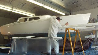 1974 Catalina 22 sailboat painting project, How long did it take?