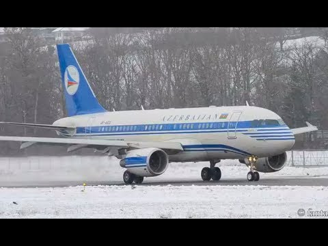 Airbus A319 takeoff with Snow-Jetblast! HD