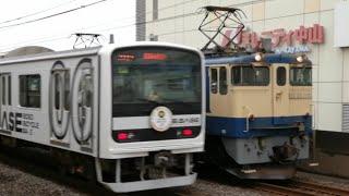 【EF65-2101号機とすれ違い!】団体臨時列車B.B.BASEサッポロ★黒ラベルTRAIN BAR両国行き209系J1編成下総中山通過