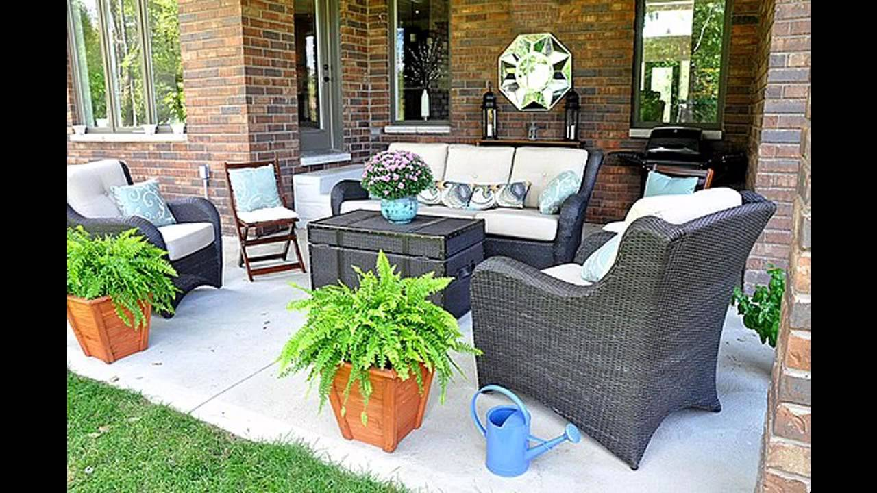 Simple back porch decorating ideas youtube for Simple patio decorating ideas