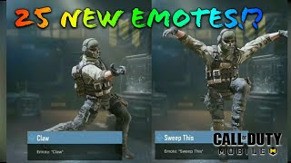 ALL 25 NEW EMOTES IN THE GAME | CALL OF DUTY MOBILE