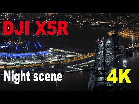 DJI ZENMUSE X5R Olympus 45 mm lens. Night scene