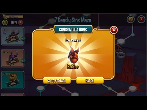 Monster Legends - Seven Deadly Sins Maze island How to unlock all