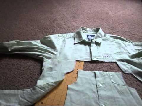 How to make an adorable dress from a men 39 s dress shirt for Make a dress shirt
