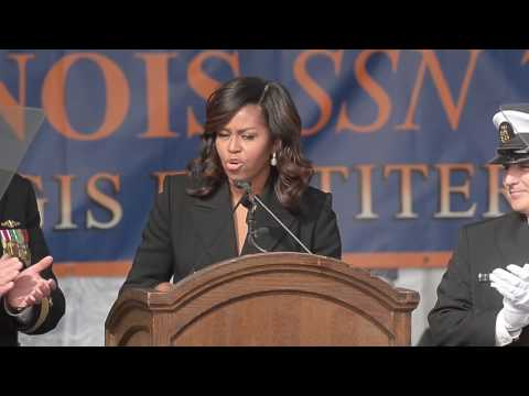 First Lady Michelle Obama's USS Illinois commissioning remarks