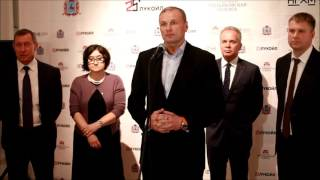 Дмитрий Сватковский на открытии выставки