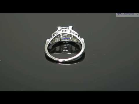 GIA 2 65CT ANTIQUE VINTAGE CARRE ASSCHER DIAMOND ENGAGEMENT WEDDING RING PLAT