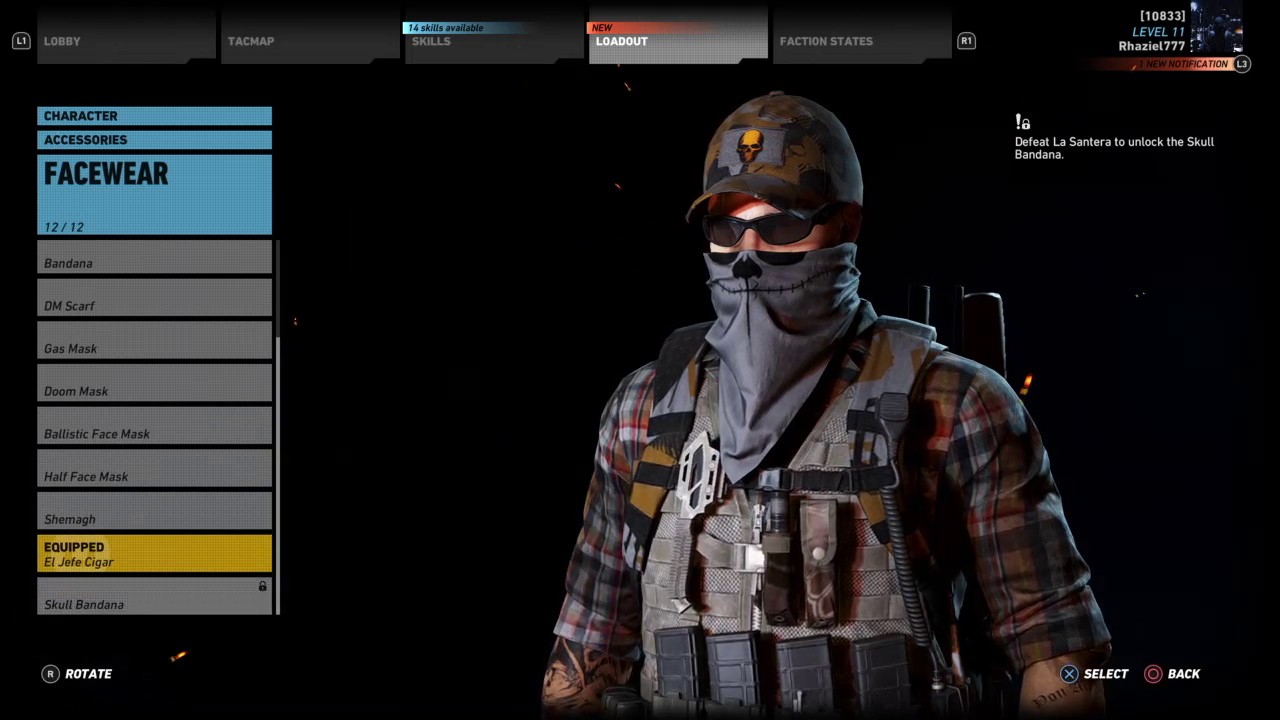 Ghost Recon Wildlands:How to save custom outfits
