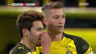 Dortmund score with one of the best worked free-kicks of 2018!