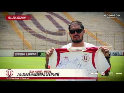 Juan Vargas te invita a ganar una camiseta autografiada de Universitario