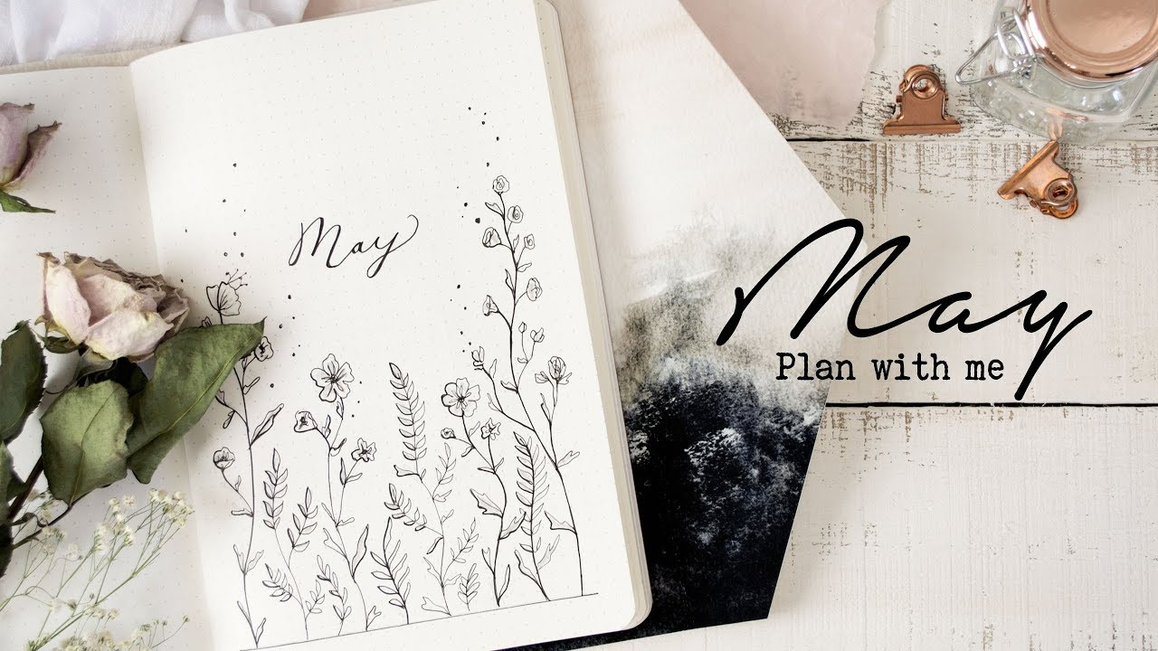 Plan with me may 2018 bullet journal setup peaceful for Plan me