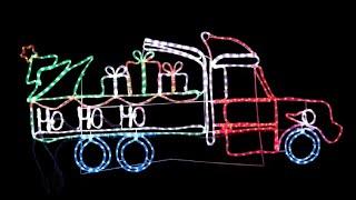 ho ho ho christmas truck led rope light silhouette 1 8m