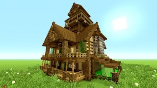 Minecraft Tutorial: EPIC Survival House Tutorial | How to make a big house | (Rustic) 2016