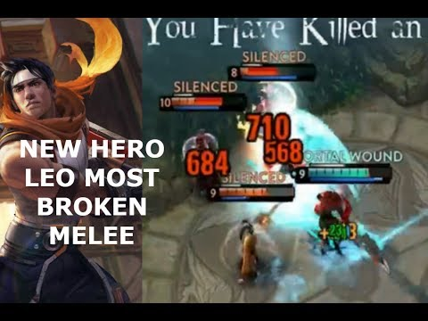 NEW HERO LEO *MOST BROKEN MELEE*! Vainglory 5v5