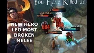 NEW HERO LEO *MOST BROKEN MELEE*! Vainglory 5v5