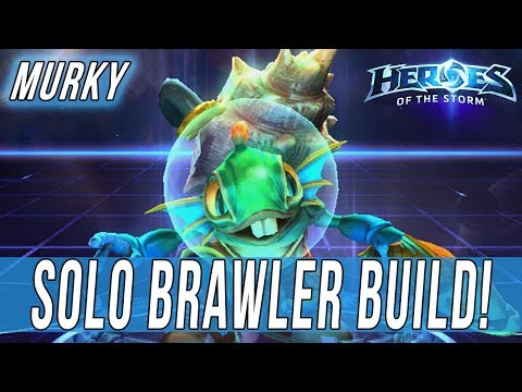 MURKY, SOLO BRAWLER BUILD! - SOLO QUEUE SILLINESS [Heroes Of The Storm]