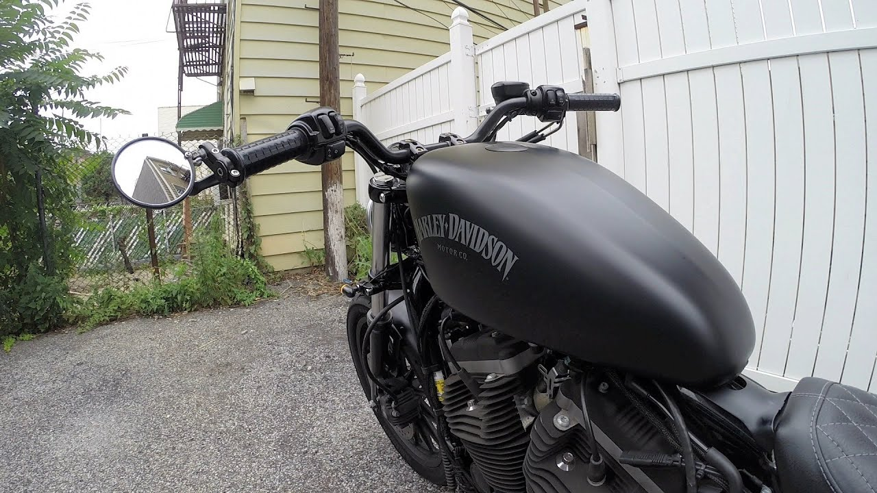 Installing Crg Bar End Mirrors And Grips On My Iron 883