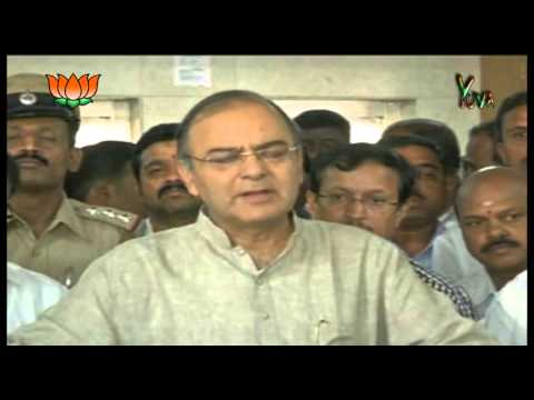 BJP Press by Shri Arun Jaitley on Karnataka Election campaign 2013.