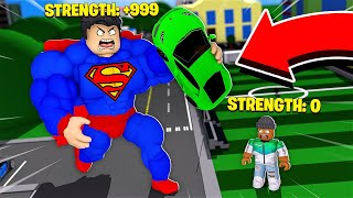 I am the WEAKEST PERSON in the WORLD with 0 STRENGTH!! (Roblox)