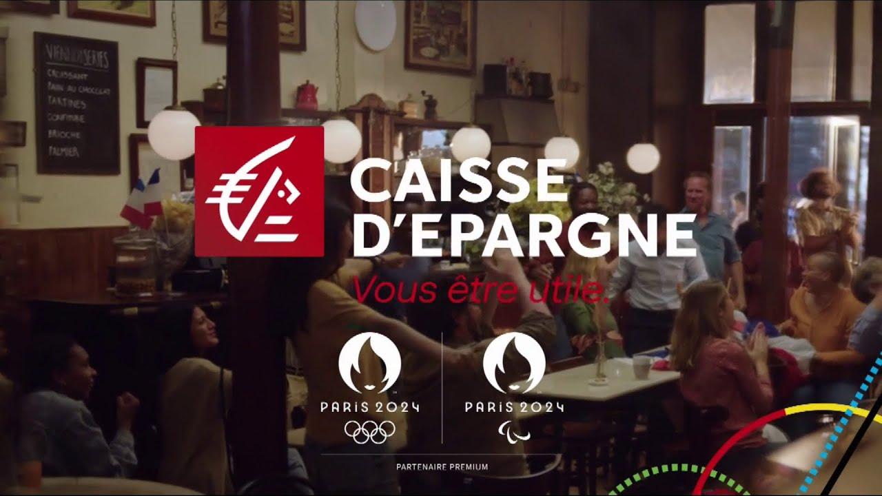 """Musique de la pub Caisse d'épargne – partenaire premium JO Paris 2024 """"vous être utile""""  2021"""