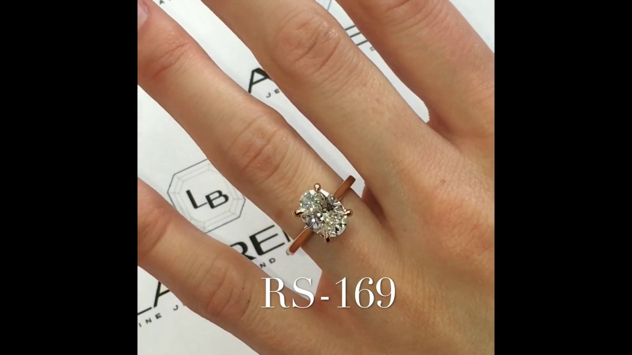 1 80 Carat Oval Diamond Engagement Ring In Rose Gold Youtube