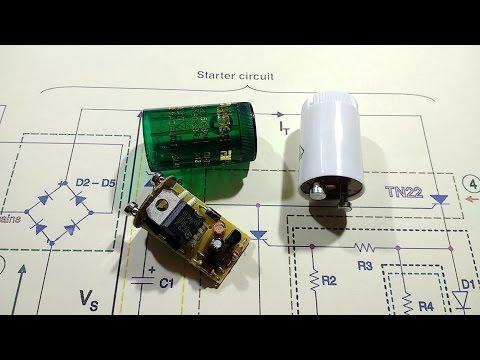 Reverse engineering an electronic fluorescent starter.