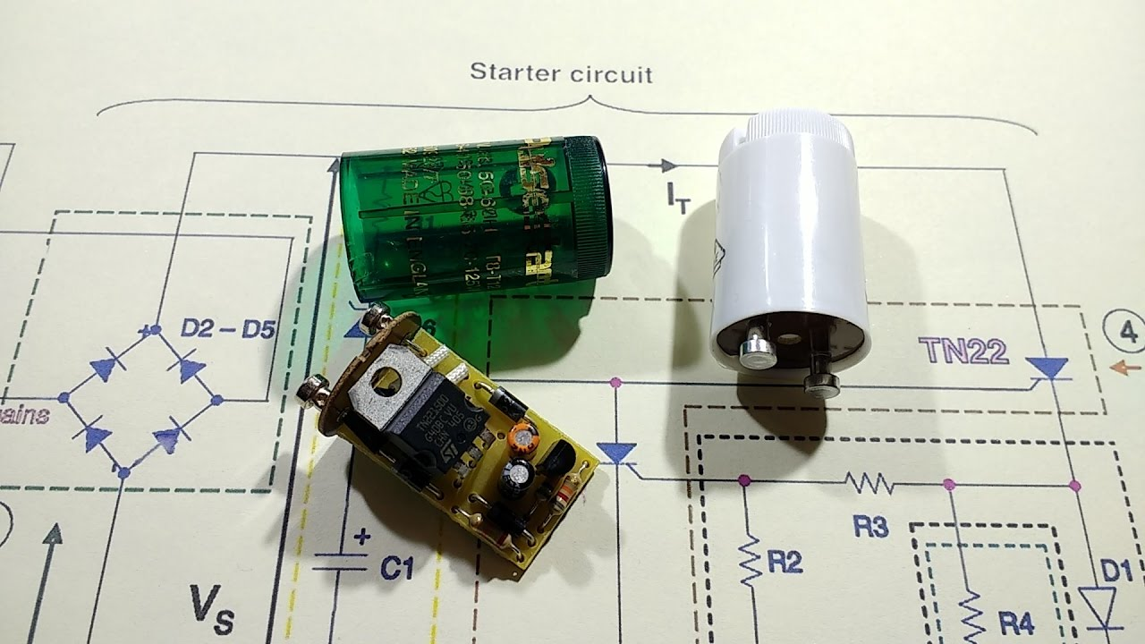 hight resolution of reverse engineering an electronic fluorescent starter