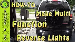 HowTo Make Aux Reverse Lights Multi functional (SPDT Switch)